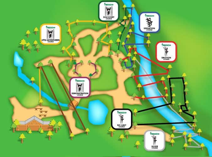 V-Map Adirondack Courses