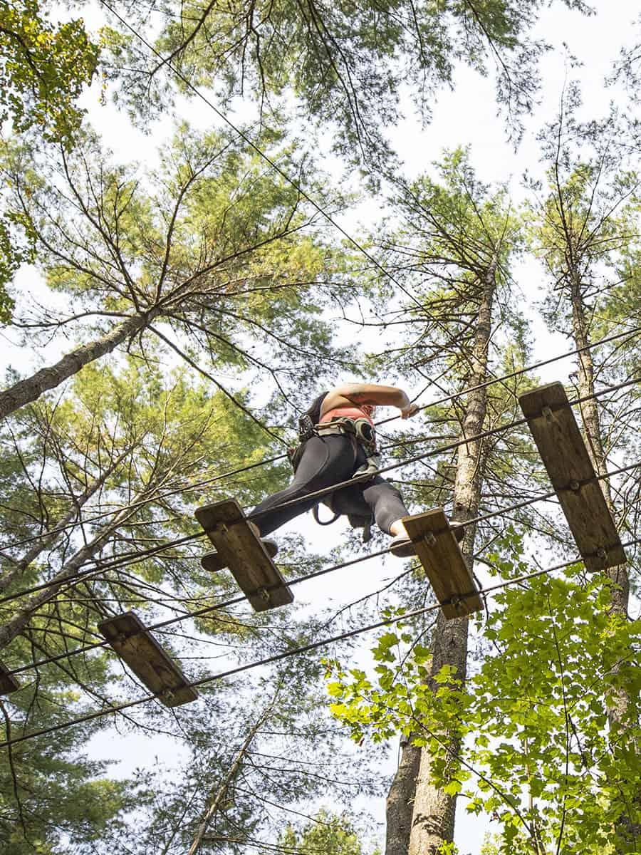 Adirondack Extreme Treetop Adventure Park Zipline Course New York Lake George Adventure Park Adirondack Extreme