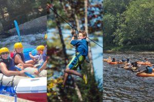 Raft Treetop and Tube Adventure Ideas