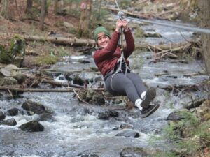 Low Rider Zipline at Adirondack Extreme Adventure Course